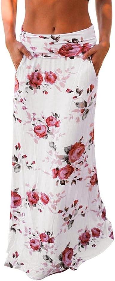 Gusspower Mujer Faldas Largas Cintura Alta Slim Fit Elegantes Moda ...