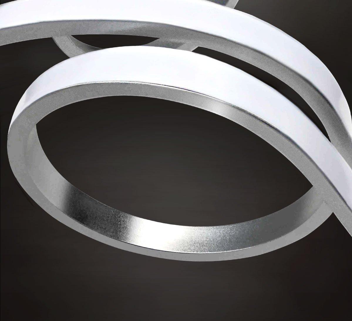 XXL LED Deckenlampe Deckenleuchte Kronleuchter Wohnzimmer Warmwei/ß Luxus Design L/üster Spirale Form 8 Arme Modern 81cm Lewima Inflexum