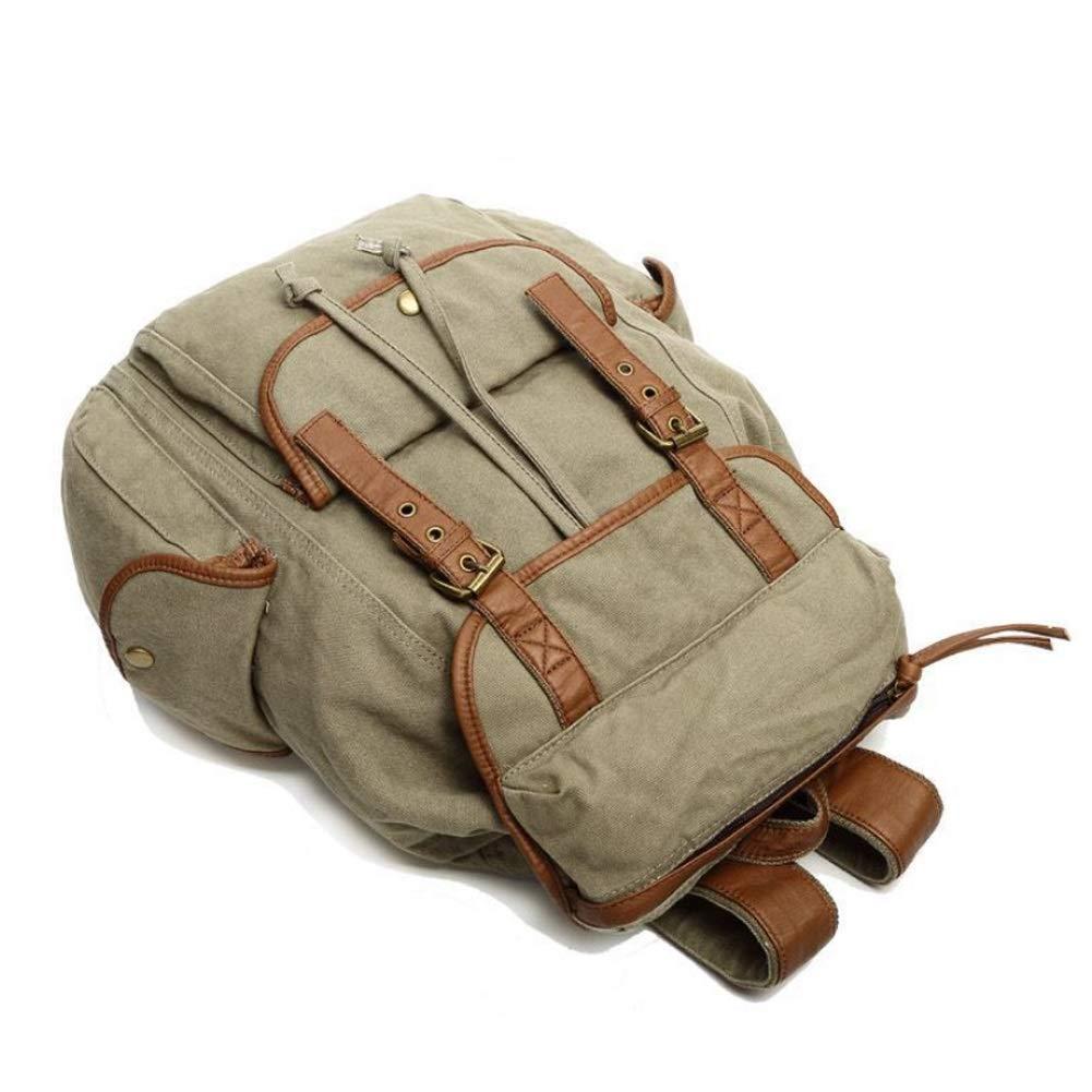 Army Green 31cm12cm39cm Men's Vintage Soft Canvas Daypack Laptop Notebook Pocket Book Bag Rucksack Shoulder Bag Schoolbag Satchel Backpack (color   Dark bluee, Size   31cm12cm39cm)