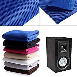 Mimgo Store Coffee Speaker mesh Speaker grill Cloth Stereo Grille Fabric Dustproof Audio Cloth