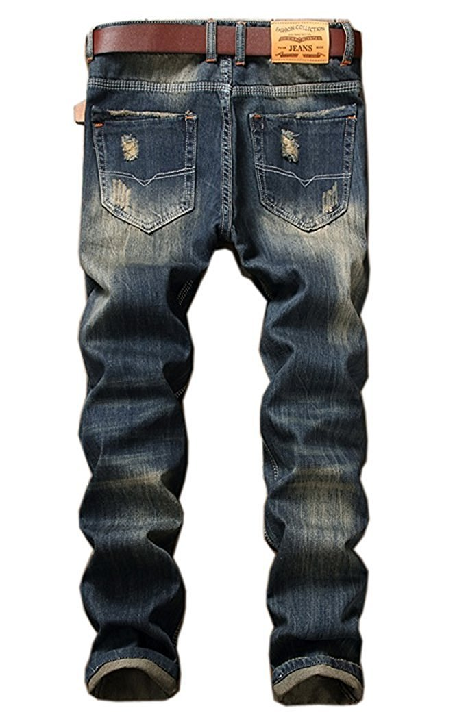 TOPING Fine Fashion;Handsome Men's Ripped Slim Jeans 5 Designs A92842