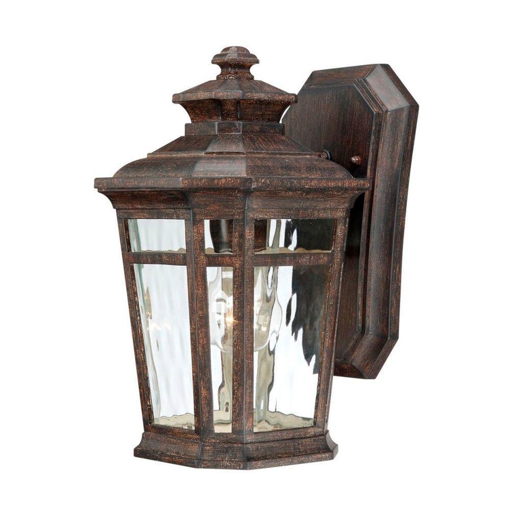 Home Decorators Collection Waterton 1-light Dark Ridge Bronze Outdoor Wall Mount Lantern