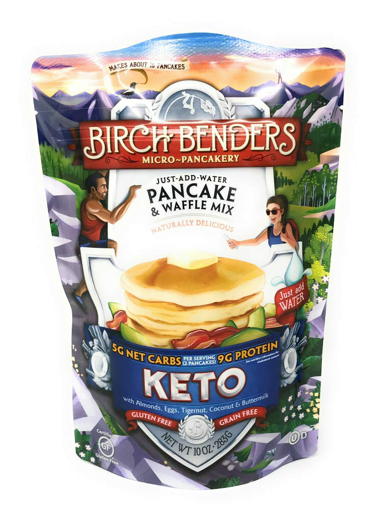 Birch Benders Griddle Cakes, Pancake Waffle Mix Keto, 10 Ounce