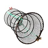 Collapsible Fishing Net, Doubletwo Crab Trap Crawfish Nets Lobster Trap Shrimp Collapsible Cast Net Foldable Fishing Nets 25cm x 45cm