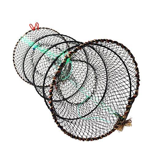 Collapsible Fishing Net, Doubletwo Crab Trap Crawfish Nets Lobster Trap Shrimp Collapsible Cast Net Foldable Fishing Nets 25cm x 45cm Catch Shrimp Cast Net