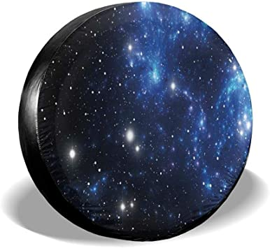 Tire Cover Outer Space Star Nebula Astral Cluster Astronomy Theme Galaxy Mystery Polyester Universal Spare Wheel Tire Cover Wheel Covers Jeep Trailer RV SUV Truck Camper Travel Trailer Accessories 15