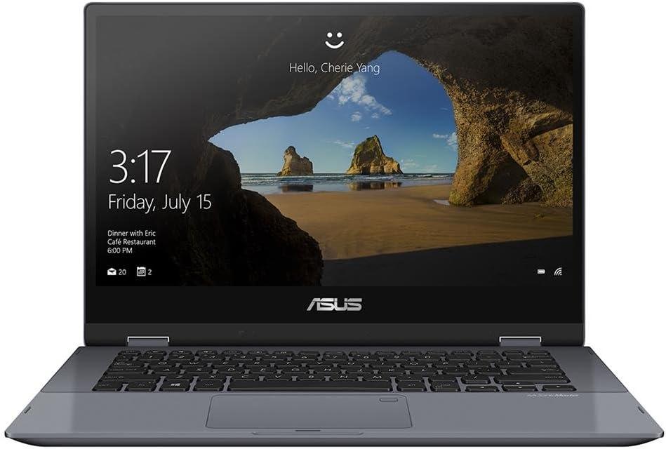 Asus VivoBook Flip 14 TP412UA-XB51T 14.0 inch Intel Core i5-8250U 1.6GHz/ 8GB DDR4/ 256GB SSD/ USB3.1/ Windows 10 Pro Notebook (Star Grey Metal)