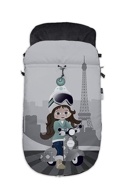 Fuli&co Paris - Saco universal para silla de paseo, 93.5 x 45 x 5 cm