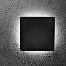 Hyperikon LED 6W Wall Mount Disk, 4000K (Daylight Glow), 50W Equivalent, 500 Lumens, 100-277V, Residential Sconce Lighting, Porch Garage Shed Walkway
