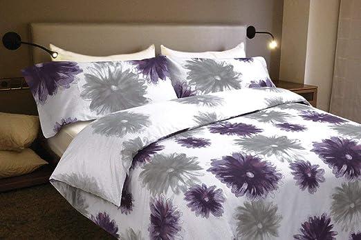 Juego de sábanas Algodón 100% Flores CLAUDIA (para cama de 135x190/200): Amazon.es: Hogar