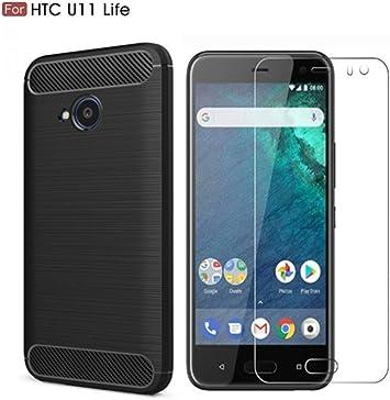 Funda HTC U11 Life (Protector de Pantalla +Funda),Vicstar Funda ...