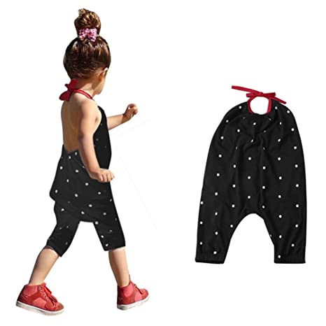 f44ed894c7 Franterd Baby Girls Straps Rompers, Kid Jumpsuits Piece Pants Clothing