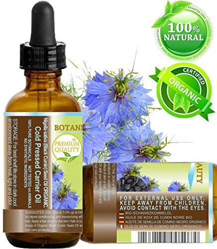 ORGANIC BLACK CUMIN SEED OIL - Nigella sativa. 100% Pure / Natural / Virgin / Undiluted. For Skin, Hair, Lip and Nail Care .1 Fl.oz.- 30 ml