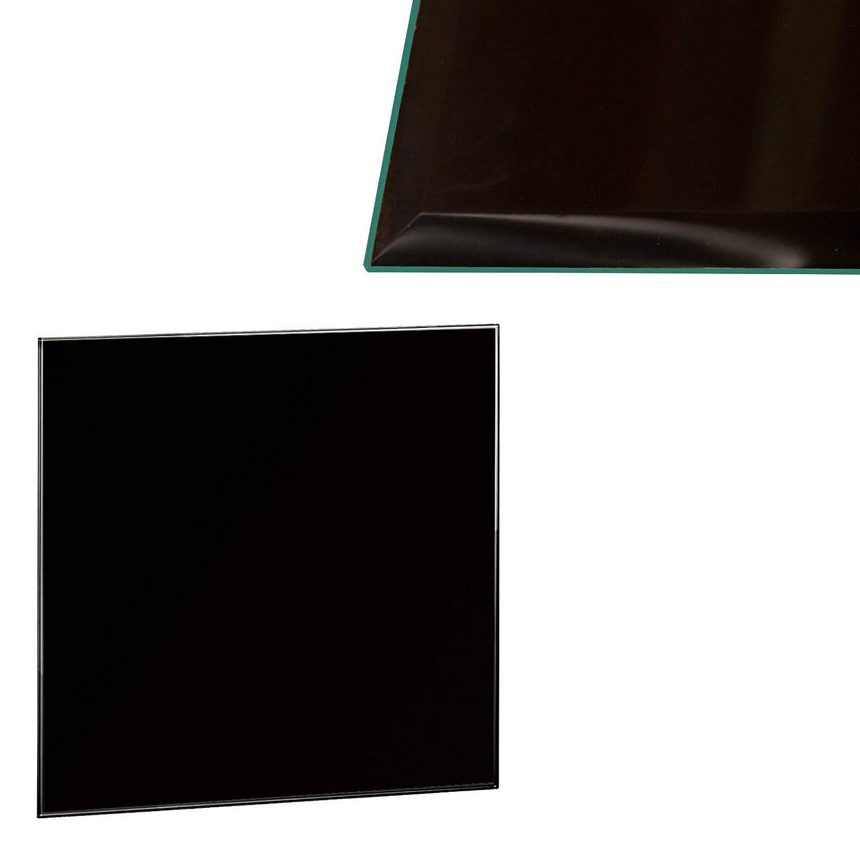 Glasscheibe Glasplatte Klarglas Quadratisch 70 x 70 cm Glas für Tisch Tischplatte Glastischplatte Tischglasplatte - Facettenschliff, 6 mm Sicherheitsglas