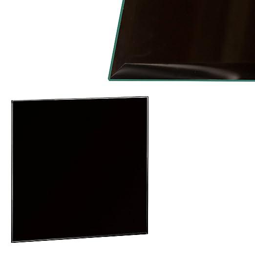 Euro Mesas Tablero de Cristal Negro, 60 x 60 cm, 6 mm Cristal de ...