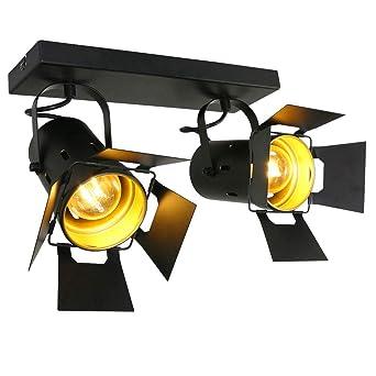 VINTAGE Decken Leuchte Arbeits Zimmer Spot Büro Beleuchtung Strahler beweglich
