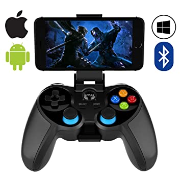Mobile Game Controller,ZUOXI Wireless 4 0 Bluetooth Gamepad with Joystick,  Multimedia Game Controller Compatible with iOS Android Mobile Phone PC