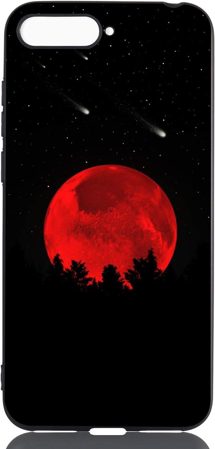 Design Astronaut HopMore compatibl eavec 3X Coque Huawei Y6 2018 Honor 7A Silicone Noir /Étui Motif Astronaute Fille Lune Dr/ôle TPU Souple Etui Antichoc Housse pour Filles Femmes Gar/çons Hommes