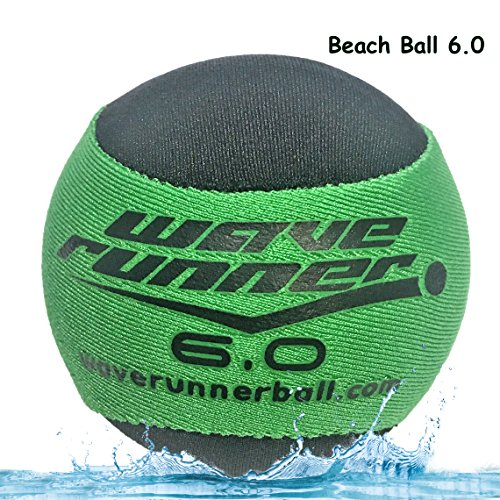 Flash Bouncing Ball (Wave Runner Beach Ball 6.0 With Water Bouncing Technology The #1 Skipping Ball (green))