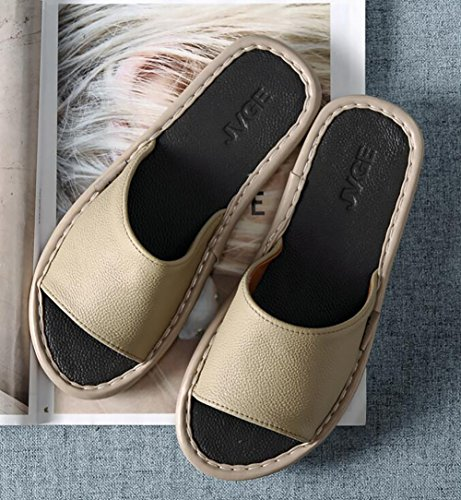 Men Slip Flops 37 Women Slipper Summer D Non Household Breathable 38 Flip D Leather Sandals 10qwxxtCp