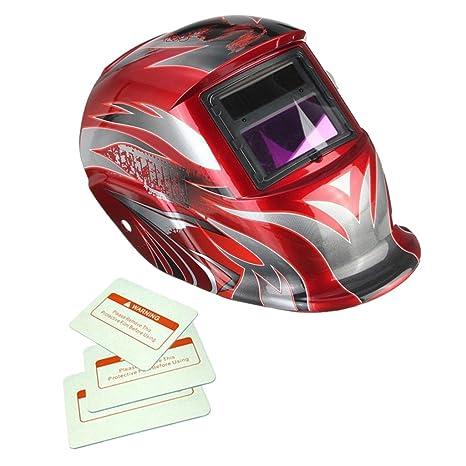 Máscara Automático Soldadura de Oscurecimiento Solar Casco Arco TIG Mig Soldador - 3