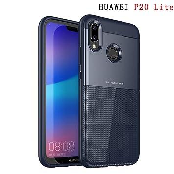 Funda Huawei P20 Lite ZSCHAO Funda Slim Suave Silicona TPU AntiGolpes Carcasa Huawei P20 Lite 2 en 1 Espesar Hybrid Armor Carcasa rigida Resistente ...