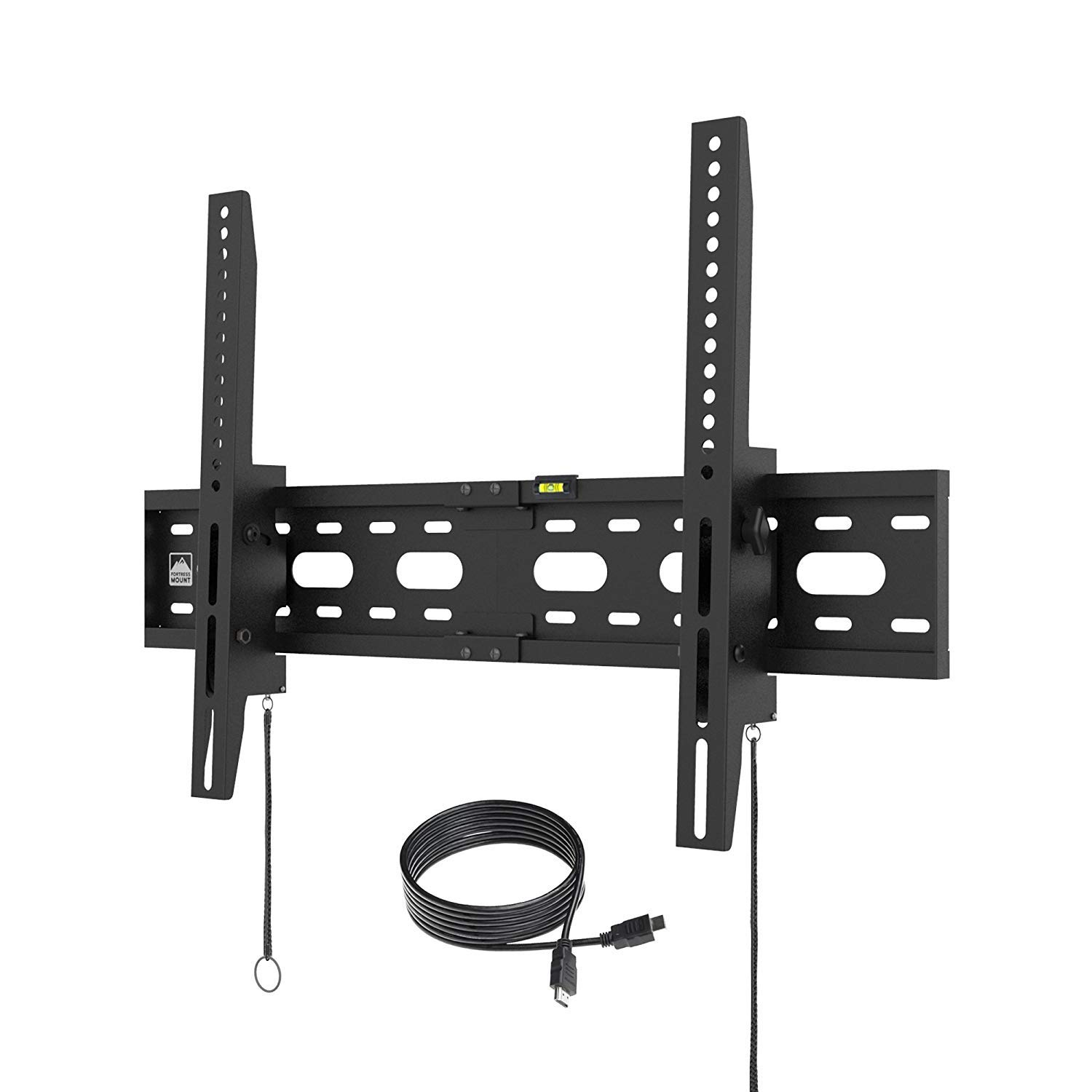 Fortress Mount TV Wall Mount for Most 40-75'' TVs up to 165 lbs and 9-feet HDMI Cable by Fortress Mount