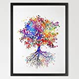Dignovel Studios 8X10 Tree Nature Love Watercolor Print Wedding Gift Archival Fine Art Print Wall Decor Art Home Nursery Art Decor Wall Hanging N338-Unframed