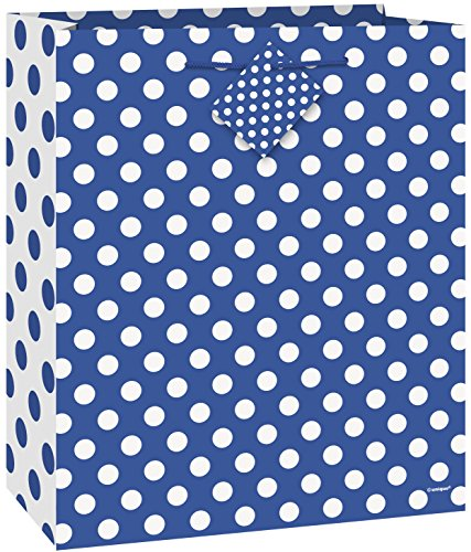 (Royal Blue Polka Dot Gift Bag)
