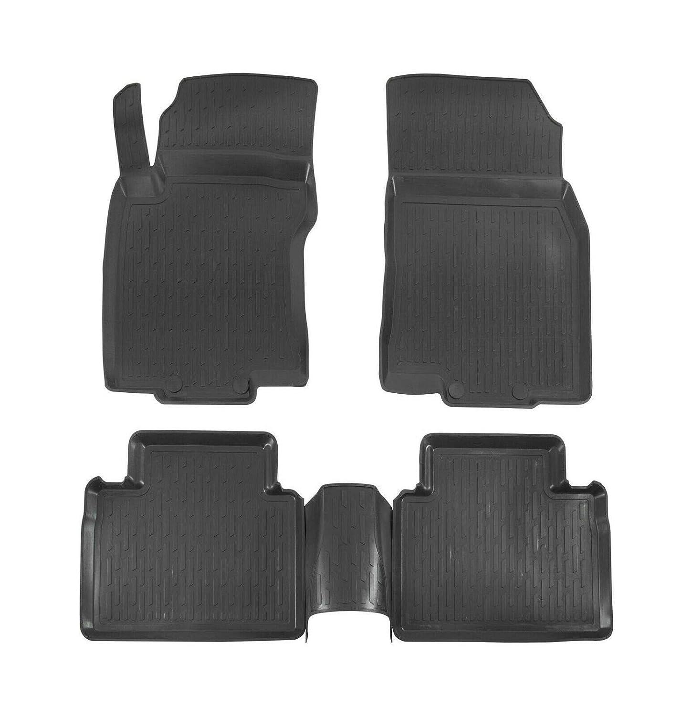 3D Tapis DE Sol en Caoutchouc Premium Compatible avec Nissan X-Trail 2014-pr/és 4 pi/èces SCOUTT