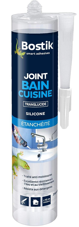 Bostik Joint d'étanchéité Bain Cuisine Translucide, Mastic Silicone - Cartouche 310ml Bostik SA AT246753