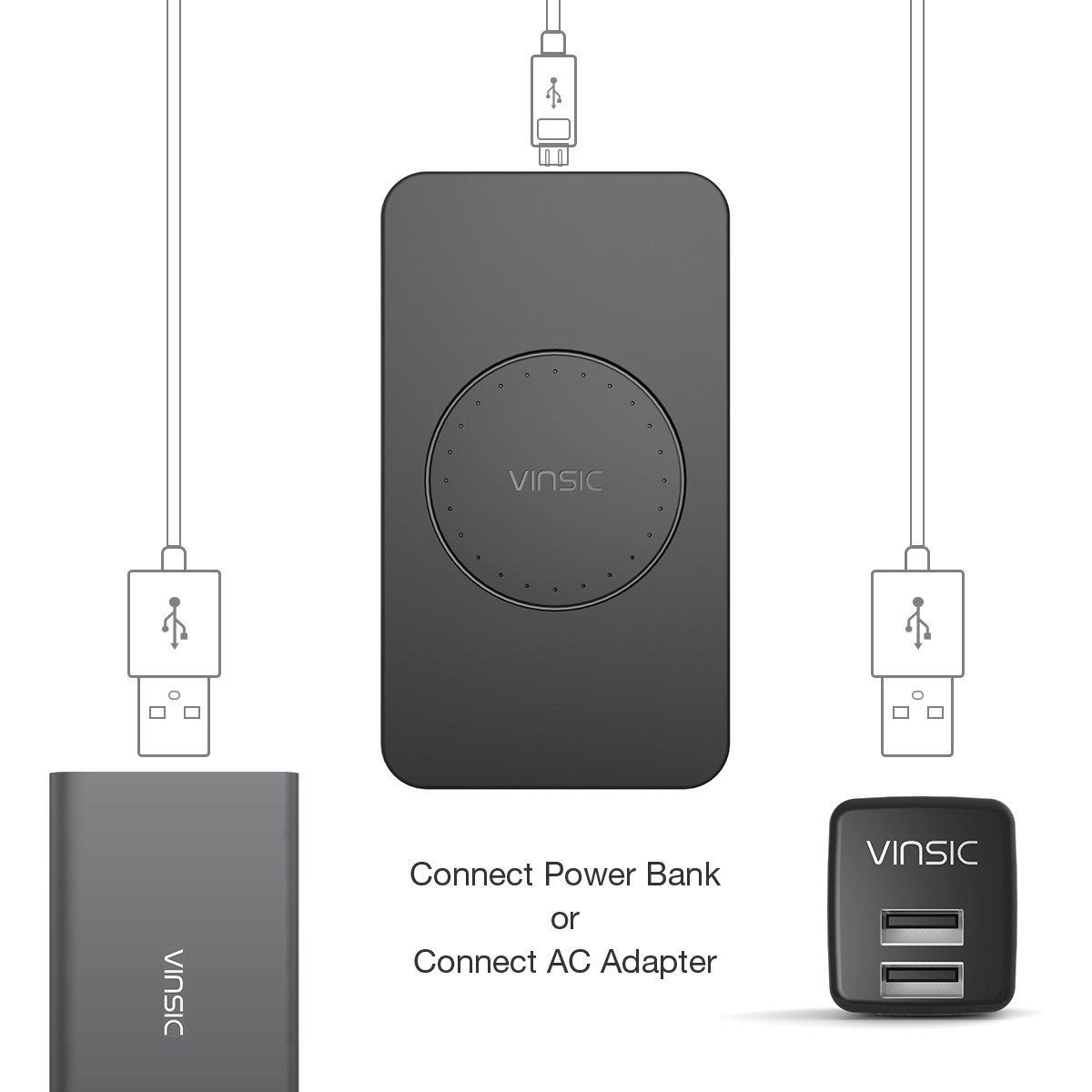 Cargador Inalámbrico, Vinsic® cargador Qi para Samsung Galaxy S6 ...