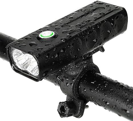 SHKY Juego de Luces para Bicicleta, Faro de luz Frontal Recargable ...