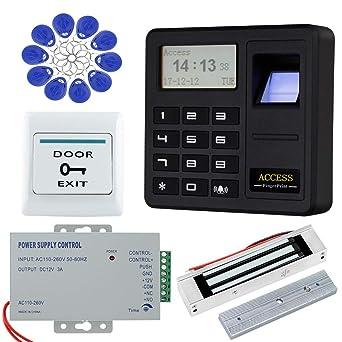 HFeng Sistema de control de acceso de la puerta de la huella dactilar Teclado biométrico RFID