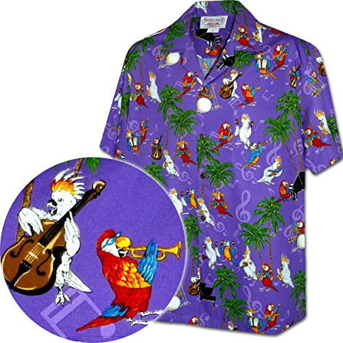 Musical Parrots Men's Tropical Shirt