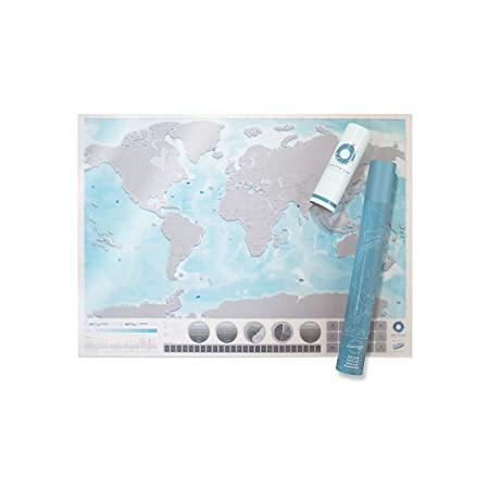 Luckies of london scratch map oceans edition personalised world luckies of london scratch map oceans edition personalised world map poster with oceanography detail on gumiabroncs Choice Image