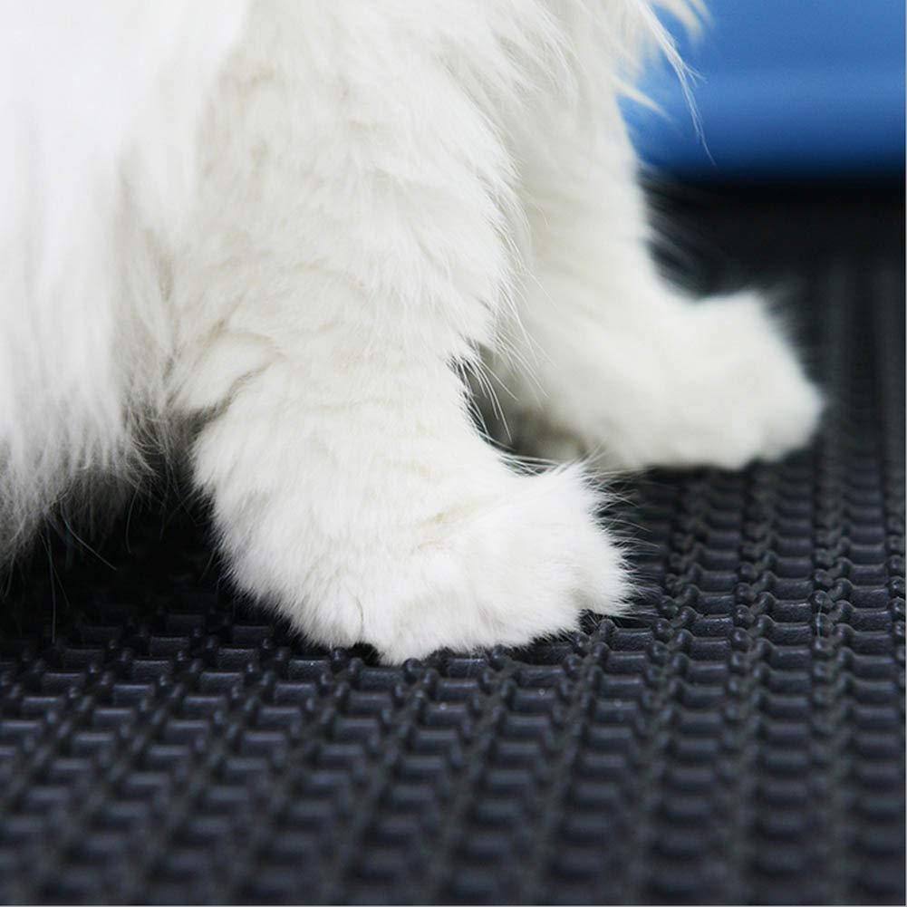 Indoor Pet Training Mat for Dogs and Cats, Waterproof Base Layer 2 Layer Trapping mat (27.5 x 21.5inches) (Black) Dennis-001