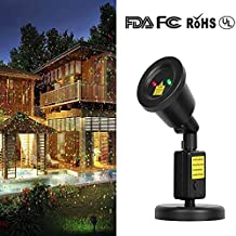 Starry Sky Outdoor Waterproof Star Laser Shower Projector Spotlights Landscape Lighting with Red and Green Lights for Indoor Lawn Yard Wall Family Party KTV Xmas Decorations