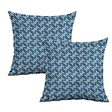 Khaki home Asian Square Kids Pillowcase Ocean Inspired Oriental Square Throw Pillow Covers Cushion Cases Pillowcases for Sofa Bedroom Car W 24' x L 24' 2 pcs
