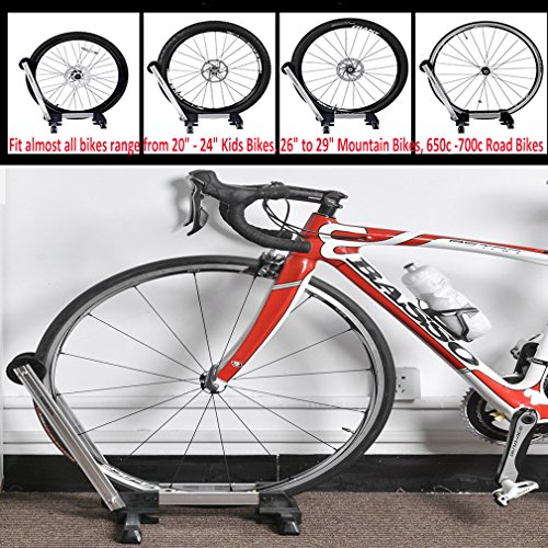 Reliancer Sports Foldable Alloy Bicycle Storage Stand Bike Floor Parking Rack Wheel Holder Fit 20   sc 1 st  Lifestyle Updated & Reliancer Sports Foldable Alloy Bicycle Storage Stand Bike Floor ...