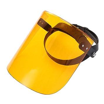 LIOOBO Máscara de Soldadura Capucha Protectora Casco para Soldar de Cuero Resistente al Calor Tapa del