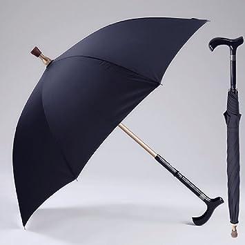 CNBBGJ Muleta paraguas para más largo mango antideslizante reforzado multifunción separables Senderismo paraguas ,AZUL
