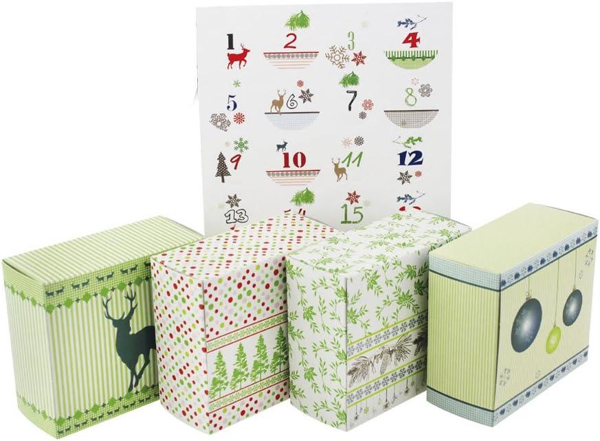 zum Selberfüllen selbst befüllen Aufbewahrungsboxen Adventskalender Box 26tlg