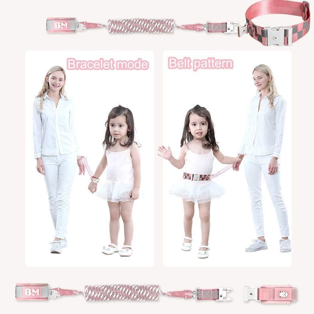 1.5m Harnais De S/éCurit/é Pour Enfant,R/éGlable Anti Perdu Laisse Enfant,Verrouillage De S/éCurit/é 2 En 1 Anti-Perte Enfant Bracelet De S/éCurit/é Fonction De Fluorescence Avec design sifflet/…