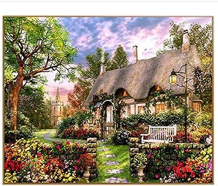 Liweixky Cadeau Printemps Paysage Cottage Diy Coloriage Image Par