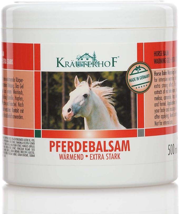Kräuterhof 2197 - Bálsamo para caballos (extrafuerte, 500 ml ...