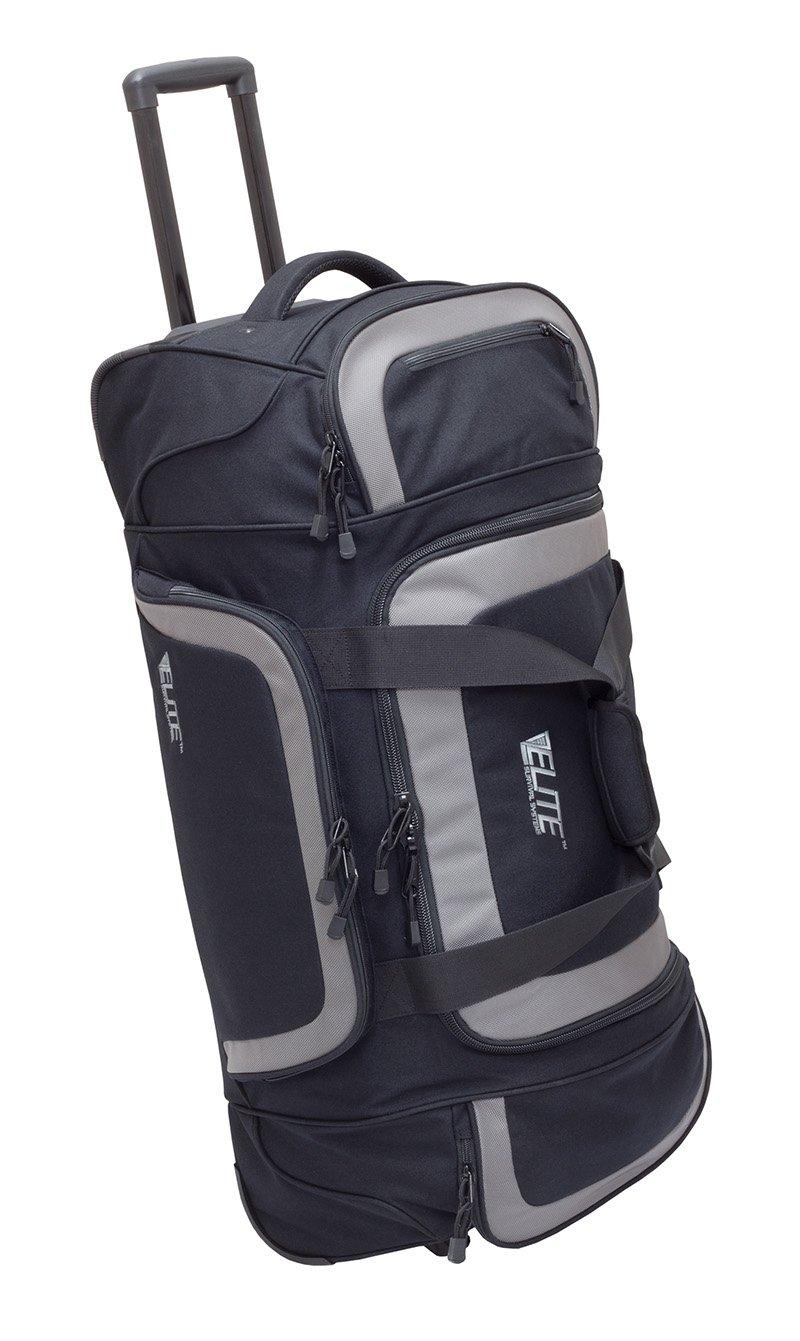 Elite Survival Systems ELS6010-B Travel Pronetm Check-Mate Rolling Gear Bag, Black/Gray