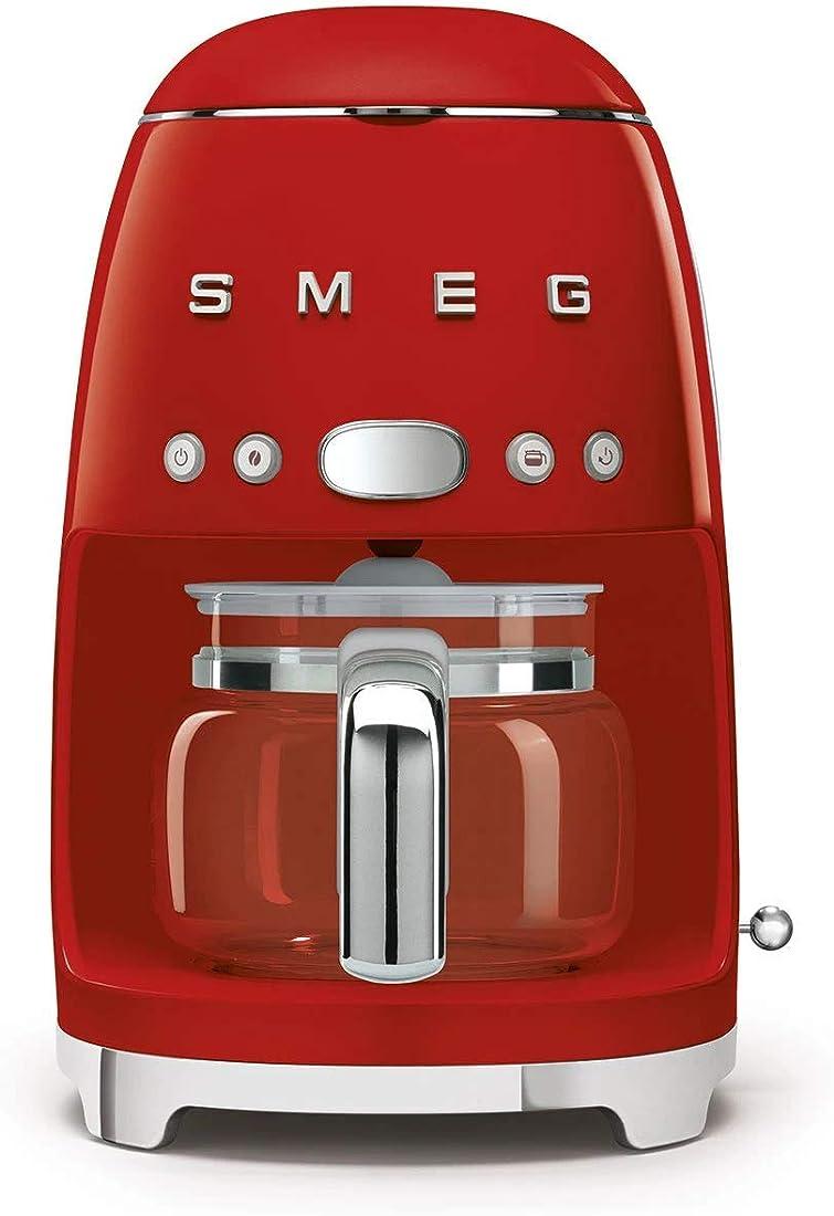 Smeg macchina da caffè con filtro, colore rosso Dcf02rdeu