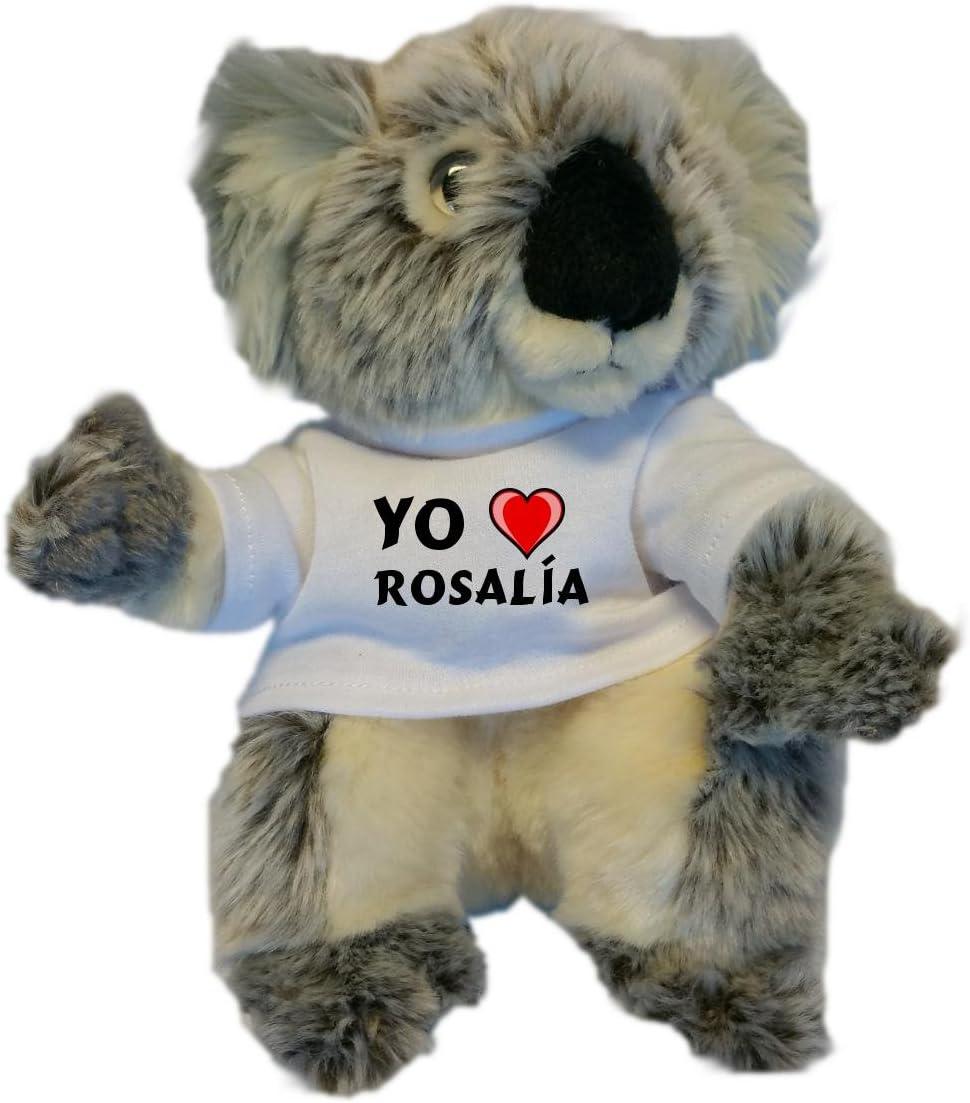 Koala personalizada de peluche (juguete) con Amo Rosalía en la ...