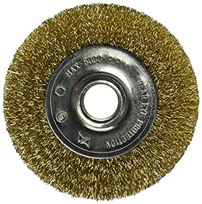 Vermont American 16796 3-Inch Fine Brass Wire Wheel Brush for 1/2-Inch arbor